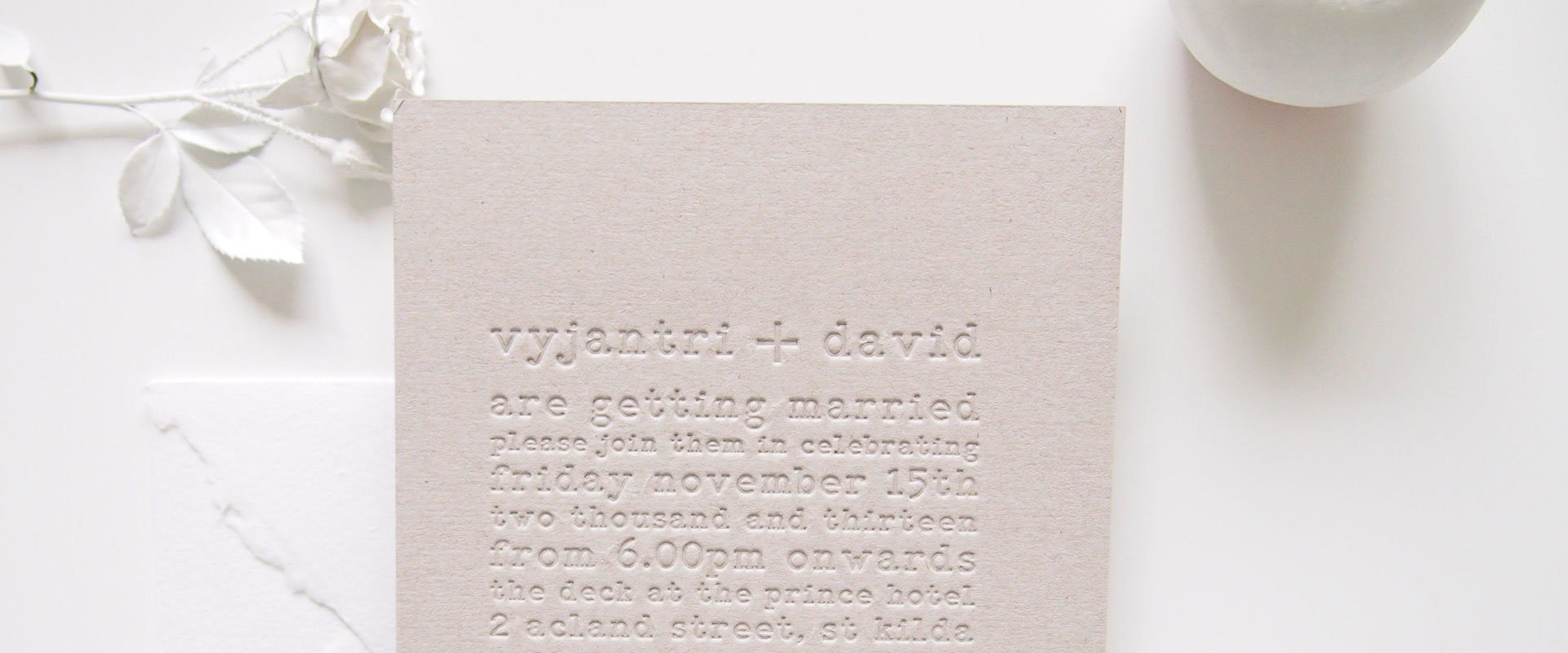 Maytide Ethical Wedding Stationery - Typography