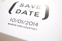 Maytide Ethical Wedding Stationery - In Brackets Save The Date