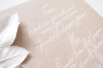 Maytide Ethical Wedding Stationery - Calligraphy Menu
