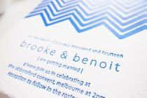 Maytide Ethical Wedding Stationery - Chevron Delights Invitation
