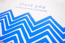 Maytide Ethical Wedding Stationery - Chevron Delights Thank You