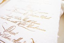 Maytide letterpress wedding stationery - calligraphy