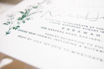 Maytide letterpress wedding stationery - forest floral