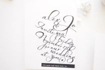 Maytide Ethical Wedding Stationery - Scripted invitation