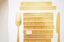 Maytide Ethical Wedding Stationery - Scripted Menu